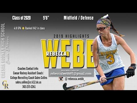 Rebecca Webb, 2020, Caesar Rodney High School - 2019 Highlights