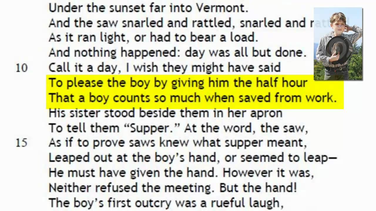 robert frost out out metaphors Poem out, out by robert frost analysis essay  this is a metaphor used by frost and here he means quite literally the boy held up his hand, to keep the blood.