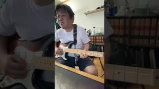 Slow blues guitar practice | 블루스 기타 즉흥연주 연습 #shorts