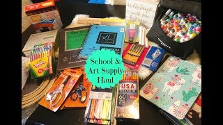 School & Art Supply Haul 2018