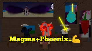 Phoenix,Magma Fruit=CHEATER COMBO!!! -One Piece Legendary-Roblox