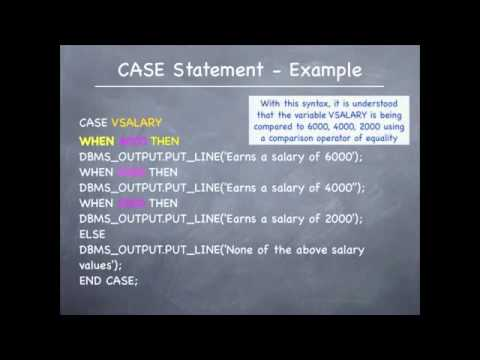 how to write case statement in oracle