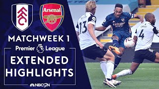 Fulham v. Arsenal | PREMIER LEAGUE HIGHLIGHTS | 9/12/2020 | NBC Sports