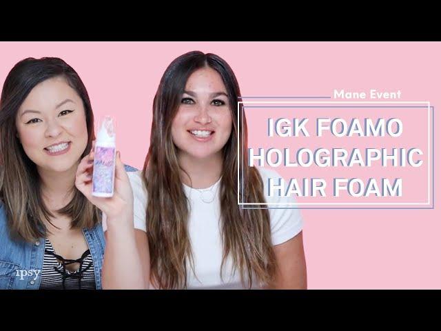 IGK FOAMO Holographic Hair Foam | ipsy Mane Event