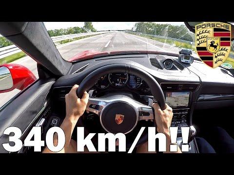 POV: Porsche 991 Turbo S PP Performance TOP SPEED AUTOBAHN RUN 340KM/H