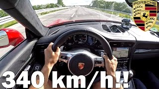 POV: Porsche 991 Turbo S PP Performance TOP SPEED AUTOBAHN RUN 340KM/H