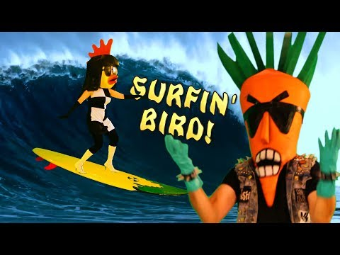 Surfin' Bird (Bird is the Word) Radioactive Chicken Heads music video