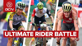 Super Star Road Cyclists, Mountain Bikers & Triathletes Race Head To Head