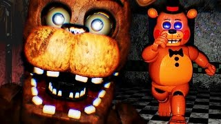 CHASED BY TOY FREDDY || FNAF 2 3D (FREE ROAM Five Nights at Freddys)