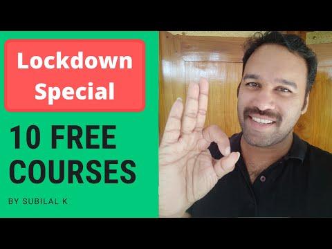 ലോക്ക് ഡൌൺ സമയത്തു പഠിക്കുവാൻ 10  ഫ്രീ കോഴ്സുകൾ | 10 top free courses for lockdown period