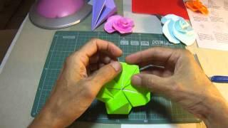 Origami - Rosa Base Do Pássaro - Bird Base Rose - James Minoru Sakoda