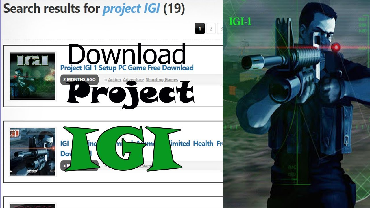 How To Download Project IGI 1 Game Free Download Quick And Easy +100%  Working // By Hassan Mughal