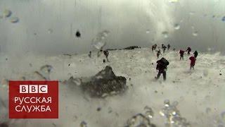 Извержение вулкана Этна  пострадала съемочная группа Би би си