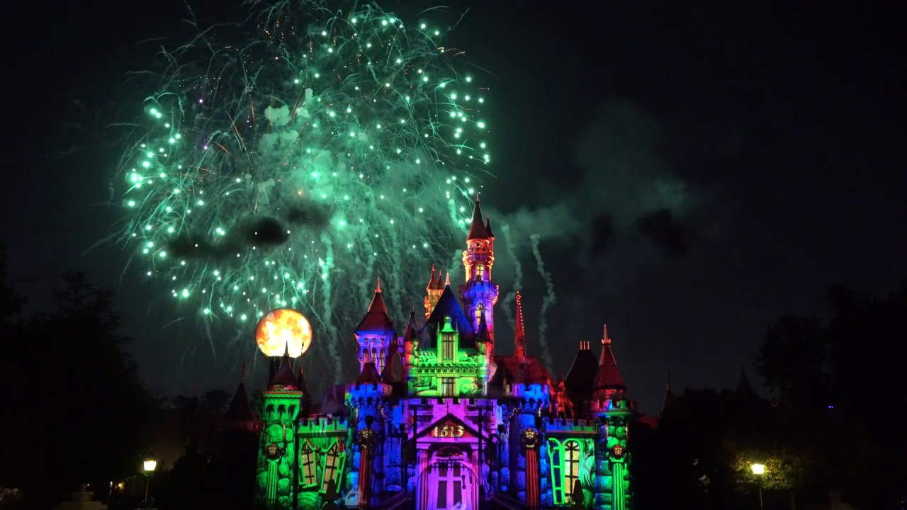 2017 mickeys halloween party fireworks halloween screams 4k