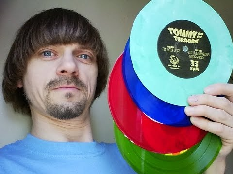 """Record Store Day Haul 2016 -(Weird Paul) Colored Vinyl Collection Rare 7"""" Records Finds"""
