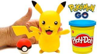 Pikachu Pokemon 💕 Superhero Play Doh Stop motion videos for kids