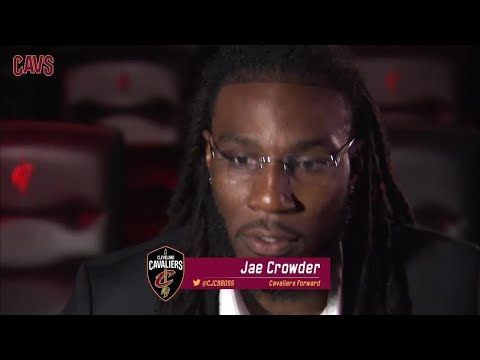 Jae Crowder First Interview with Cleveland Cavaliers || NBA || Sep, 7th 2017