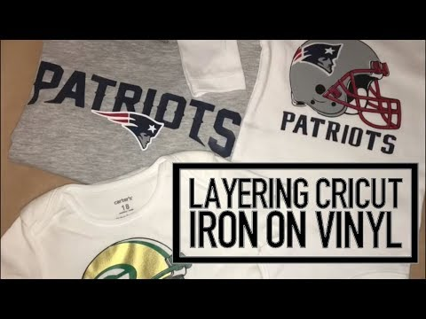 NFL Onesie/tshirt Tutorial Using Different Color Cricut Iron On Vinyls