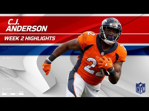 C.J. Anderson Powers Through the Dallas Defense! | Cowboys vs. Broncos | NFL Wk 2 Player Highlights