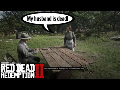 Mrs. Downes Pay off her Debts at Camp   Red Dead Redemption 2 thumbnail