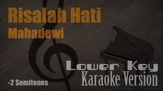 Mahadewi - Risalah Hati (Lower Key  -2 Semitones) Karaoke Version | Ayjeeme Karaoke