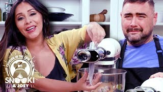 Rainbow Pasta & Wine = A Good Day ft. Salty Seattle | Cooking in the Crib w/ Snooki & Joey