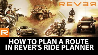 Gambar cover How to Plan a Route in REVER's Ride Planner