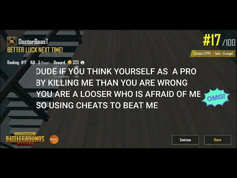 PUBGMOBILE HIGHLIGHT # 04  [Wall hack Cheater(so called pubg hacker) detected]