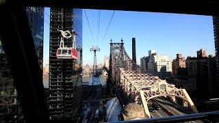 【アメリカ】 ニューヨークの通勤用ロープウェイ 「ルーズベルト・アイランド・トラムウェイ」 前面展望 Roosevelt Island Tramway, New York (2016.4)