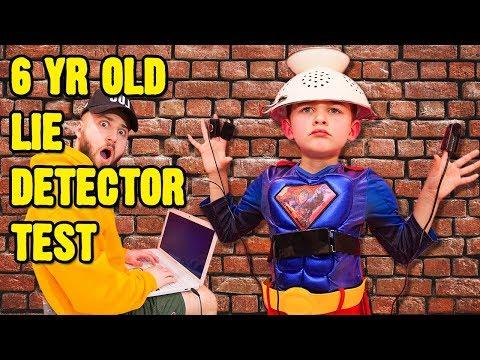 6 YR OLD FAILS LIE DETECTOR!
