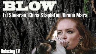 BLOW - Ed Sheeran, Chris Stapleton & Bruno Mars. Lyrics Video