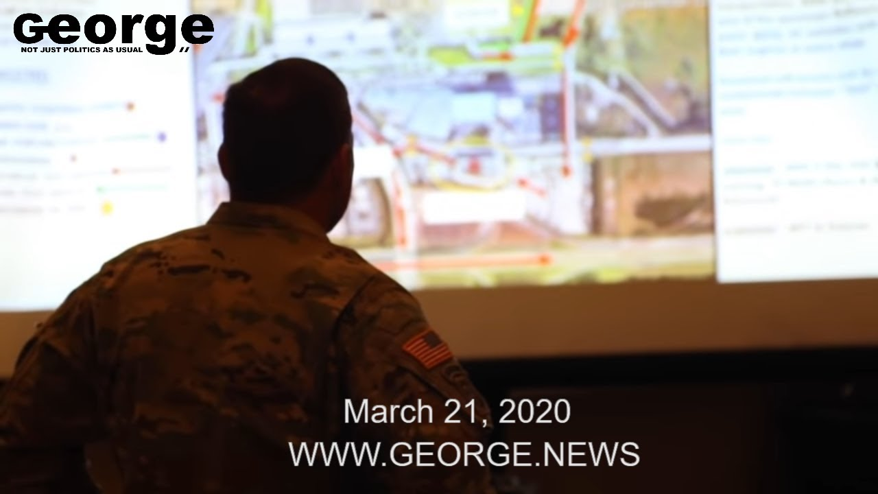 Florida National Guard COVID-19 Response Orange County, @GEORGEnews B-ROLL, MARCH 21, 2020