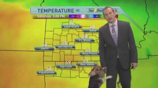 Weatherman Plays Fetch With Dog Blooper