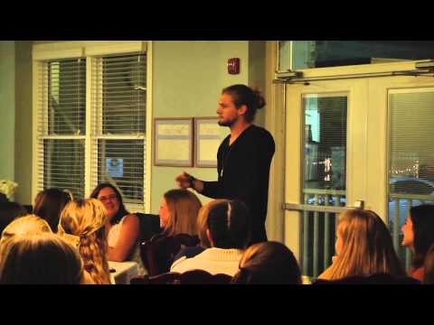Caleb Pressley at ZTA Sorority Academic Banquet
