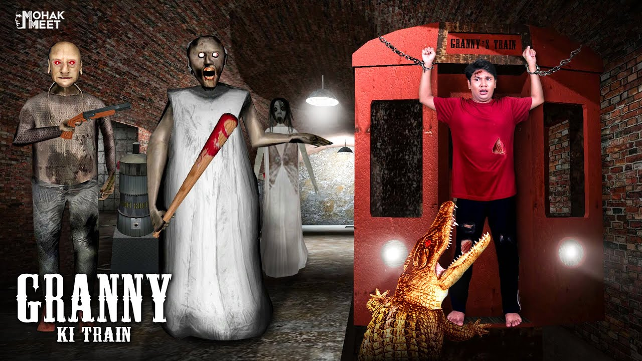 Download GRANNY KI TRAIN SHORT FILM : ग्रैनी ट्रैन | HORROR GAME GRANNY : CHAPTER 2 - SLENDRINA || MOHAK MEET
