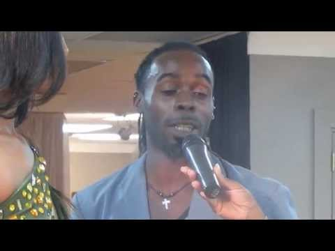 Interview - Quincy Farrell (Maradona Nicholas) at the Courts Fashionister Fashion Competition 2014