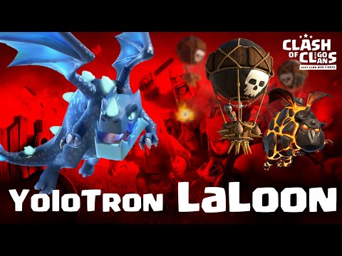 easily destroy TH12 with YoloTron and LaLoon + Sui hero   clash of clans 11/19 3 star fight CW