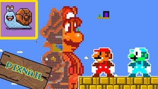 Pixnail: Super Mario FIRE and ICE - MARIO Maze mayhem   Animation