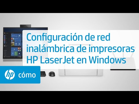 Configuración de red inalámbrica de impresoras HP LaserJet en Windows | HP Printers | HP