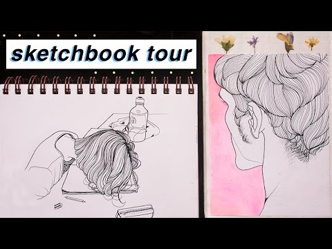 Sketchbook and Journal Tour  🎨 📘 (2016)