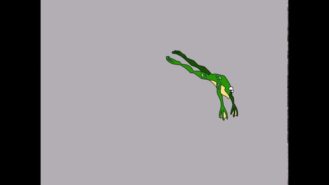 Basic Frog Jump Animation by [ Lyubomir D. Mochkov] - YouTube
