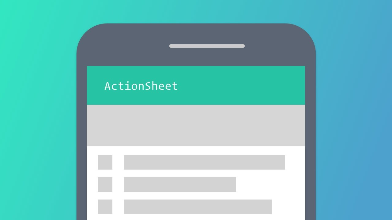 Ionic 3 - ActionSheet with Ionic Native - YouTube