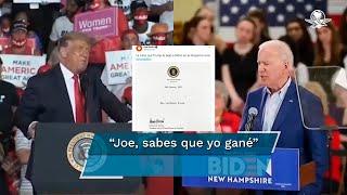 El presidente Joe Biden dio a conocer que Donald Trump le dejó una nota como dicta la tradición en EU, sin embargo, no reveló su contenido por ahora, acción que hizo especular a los internautas