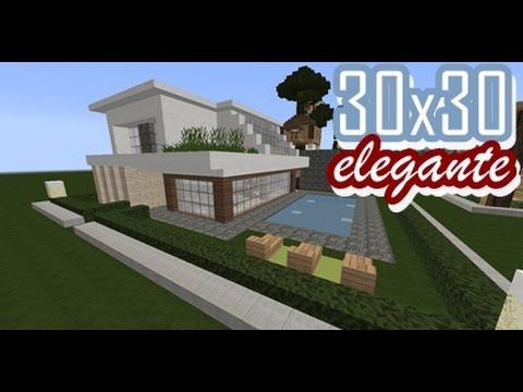 11 30x30 casa elegante minecraft tutorial youtube