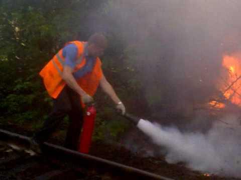 Пожар в локомотивном депо Батайск - YouTube