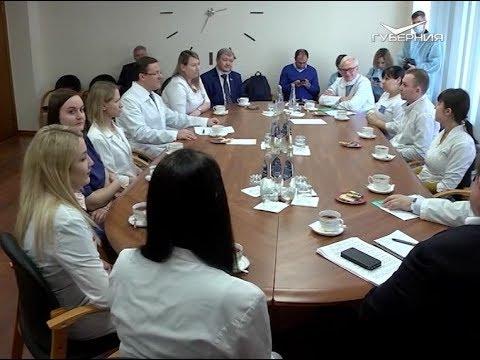 Дмитрий Азаров встретился с тольяттинскими врачами, которые лечат пациентов с коронавирусом