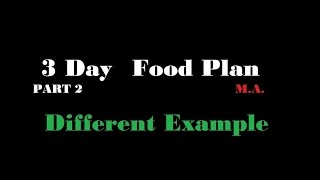 Meal Preparation for Maximun Weight Loss:  3 Day breakfast, lunch, dinner 💪