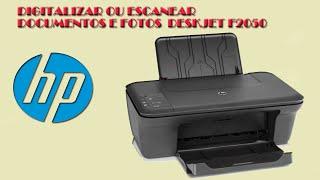 Digitalizar ou escanear documentos e fotos HP deskjet f2050
