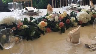 Оформление стола гостей. Организатор Your Portugal wedding .Флористика Mari Vyshnevska.