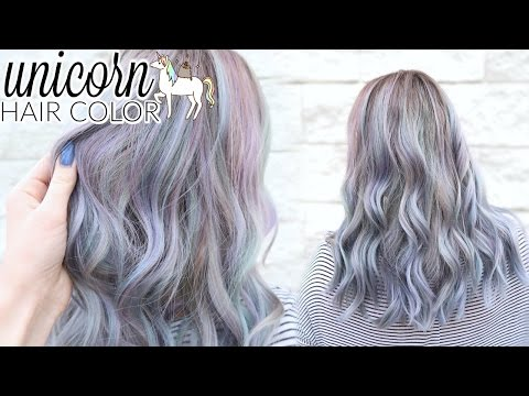 Unicorn Lavender + Periwinkle Hair Color Ft. Lime Crime Unicorn Hair Dyes
